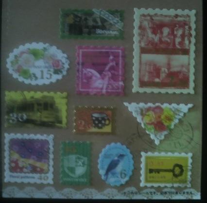 切手風シール