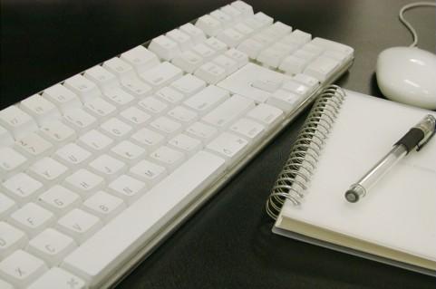 ノートとキーボード