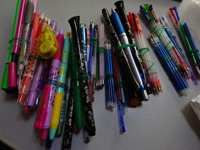 2016年に使ったペン 130本