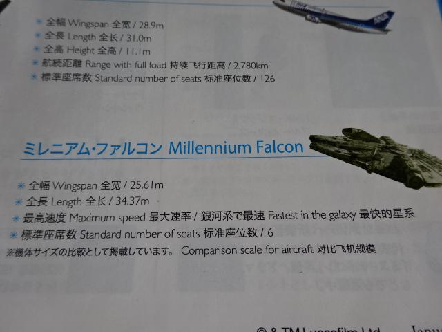 ミレニアム・ファルコン ANAの飛行機で、いつも気になっていたもの。