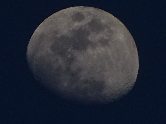 月の周期は、本当に規則的で、当たり前だけど、ちょっとみないともうすぐに違う顔【今夜の月】