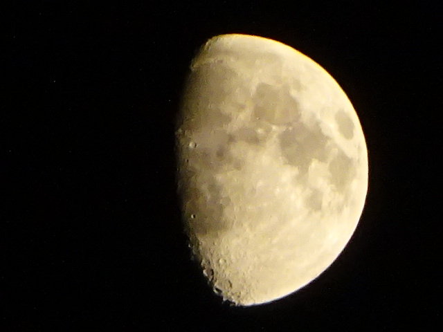 窓の外には月。【今日の月】