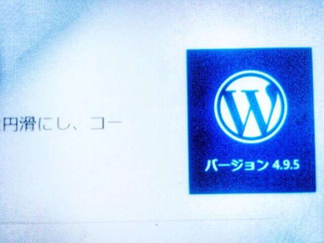 WordPress 4.9.5 jaのアップデートが来てたのでさくっと最新化しました。