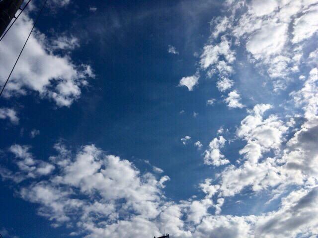 今日の空はステキだった。