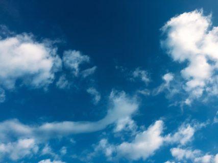 空がきれいでセミナー日和。空を見上げる余裕を持とう。