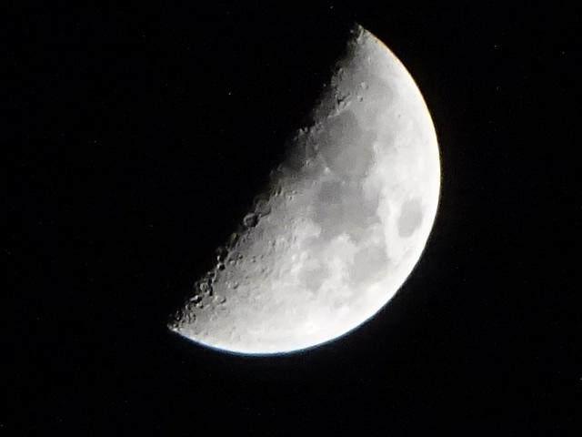 上弦の月【今日の月】