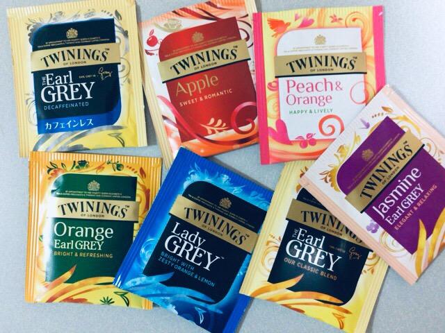 5種類のアールグレイ トワイニングの紅茶 来た! おしゃれな7種類です。