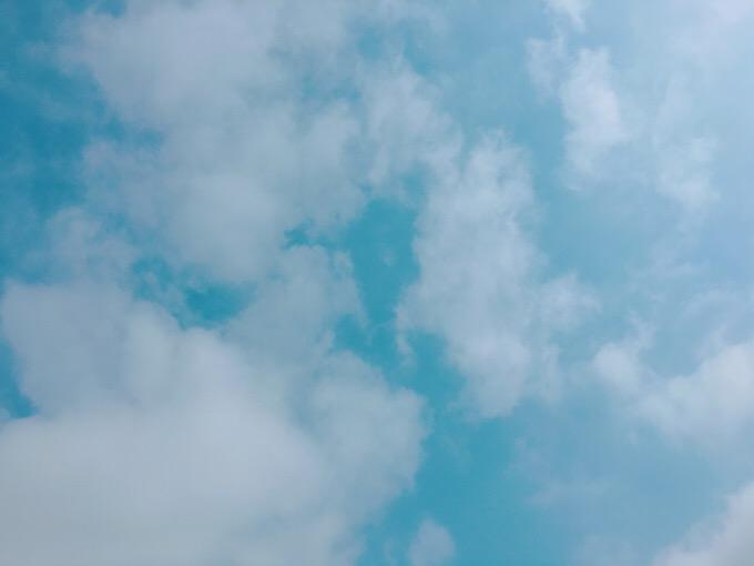 今日の空を記しておこう。2019May12