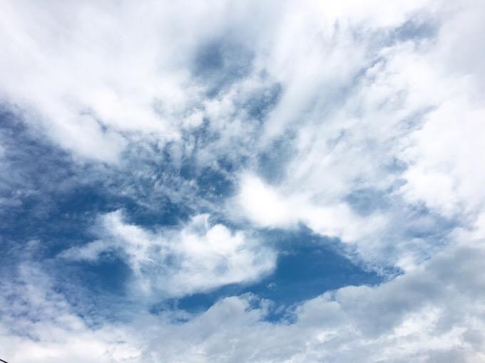 今日の空を記しておこう。2019Jul28
