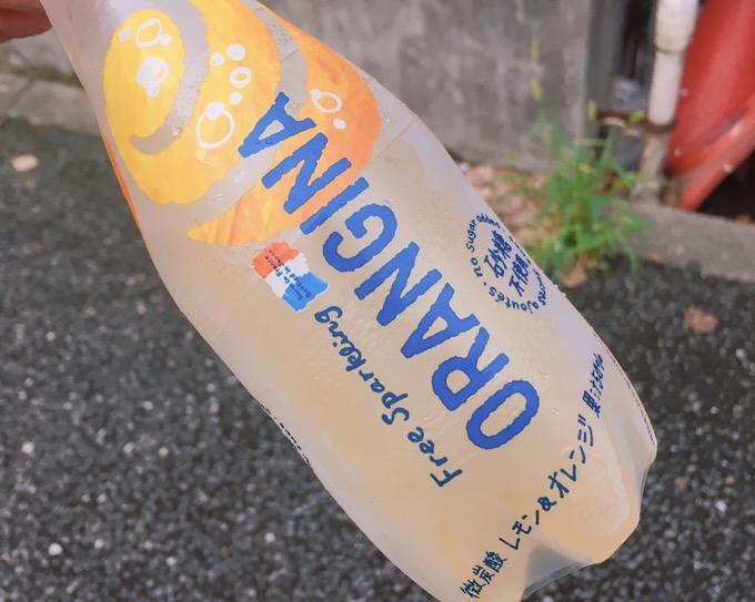 【ファミマ限定】サントリー オランジーナ フリースパークリング レモン&オレンジ レモン際立つ。