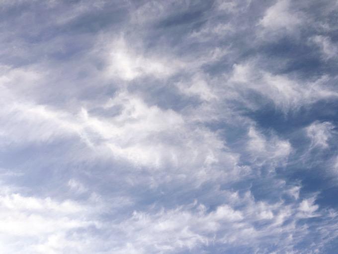 今日の空を記しておこう。2019Dec15