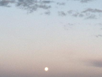2020年1月11日 かに座の満月ウルフムーン もうすでに満月です。