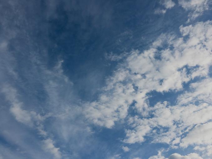 今日の空を記しておこう。2020Jan16