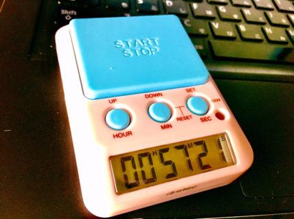 【レビュー】勉強記録タイマー 記録が目に見えてモチベーションアップ。:dretec(ドリテック) 勉強タイマー タイムアップ2 消音 T-587PK