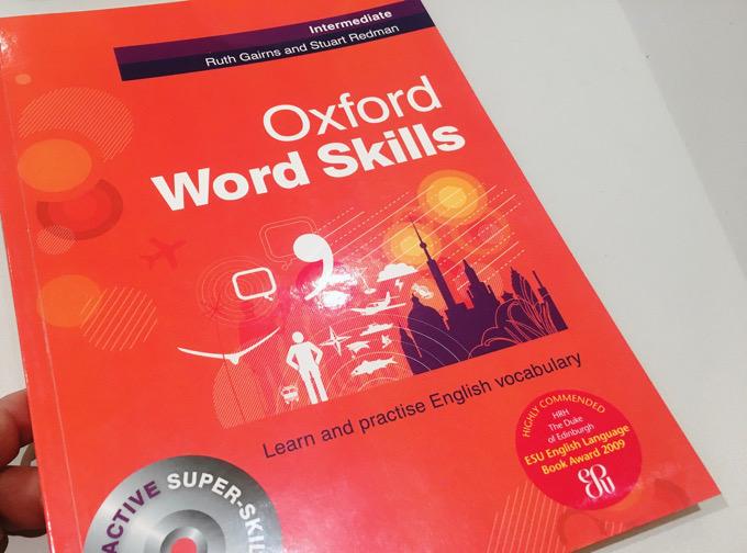先生おススメの本を購入:使える単語を増やすために。Oxford Word Skills Intermediate(中級)
