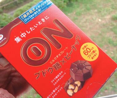 集中したいときのミルクチョコレート(ブドウ糖もはいってる)