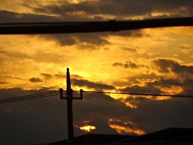 夕焼けがきれいだった。